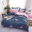 cheap Cartoon Duvet Covers-Duvet Cover Sets Cartoon 4 Piece 100% Cotton Reactive Print 100% Cotton 4pcs (1 Duvet Cover, 1 Flat Sheet, 2 Shams) (If Twin size, only 1