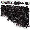 cheap Hair Braids-8 Bundles human hair brazilian ombre hair weaves deep wave hair extensions 8-14inch 8 bundles/pack black burgundy black