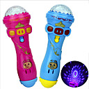 cheap Toy Instruments-LED Lighting Microphone Toy Musical Instrument Toy Novelty Birthday Family Glow Lighting Holiday New Design Rubber Kid's Gift 1pcs