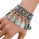 cheap Bracelets-Women's Crystal Tassel Charm Bracelet - Turquoise Tassel, Bohemian, Boho Bracelet Silver For Daily / Casual