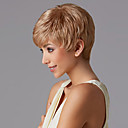 cheap Synthetic Capless Wigs-Straight Blonde Pixie Cut / With Bangs Synthetic Hair Blonde Wig Women's Short Capless