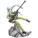 billige Anime actionfigurer-Anime Action Figurer Inspirert av Sword Art Online Shino Cosplay PVC 22.5 cm CM Modell Leker Dukke