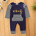 cheap Baby Boys' One-Piece-Baby Boys' Teddies / One Piece / Pants Stripe / Fashion Long Sleeve Cotton Overall & Jumpsuit Royal Blue 2-3 Years(100cm) / Basic / Trousers / Leisure / Stripes / Dresswear