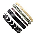 cheap Anklet-Men's / Women's Strand Bracelet / Leather Bracelet - Leather Bohemian Bracelet Black For Holiday / Going out