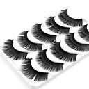 abordables Pestañas Postizas-Pestaña Pestañas Postizas 10 pcs Denso Rizado Extra largo Fibra Diario Pestañas Completas Grueso - Maquillaje Maquillaje de Diario Cosmético Útiles de Aseo