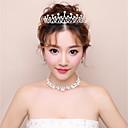 ieftine Suporturi de Cartonașe De Loc-Pentru femei Ștras Set bijuterii - Include Alb Pentru Nuntă / Serată
