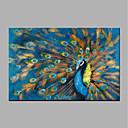 tanie Obrazy: motyw zwierzęcy-Hang-Malowane obraz olejny Ręcznie malowane - Pop art Nowoczesny Zwinięte płótna / Zwijane płótno