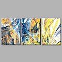 cheap Landscape Paintings-Print Stretched Canvas - Abstract Simple / Modern Three Panels