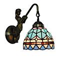 povoljno Zidni svijećnjaci-promjer 15cm retro zemlja sirena tiffany zidne svjetiljke staklo hladovina dnevni boravak spavaća svjetiljka