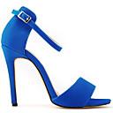 זול סנדלי נשים-בגדי ריקוד נשים נעליים בד / PU קיץ נוחות סנדלים פוקסיה / אדום / כחול