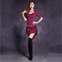 hesapli Dans kostümleri-Göbek Dansı Kadın's Performans Modal Fırfırlı Yarım Kol Elbise