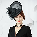 cheap Party Headpieces-Tulle / Flax Fascinators / Hats with 1 Special Occasion / Party / Evening Headpiece