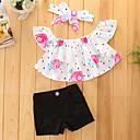 preiswerte Kleidersets für Mädchen-Mädchen Kleidungs Set Solide Baumwolle Polyester Sommer Kurzarm Blumig Zum Kleid Schwarz