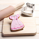 cheap Bakeware-Baby Skirt with Lace Cookies Cutter Stainless Steel Biscuit Cake Mold Metal Kitchen Fondant Baking Tools