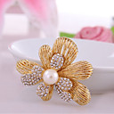 cheap Religious Jewelry-Women's Synthetic Diamond Brooches - Rhinestone Flower Classic, Fashion Brooch Gold For Birthday / Daily