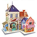 זול פאזלים3D-RUOTAI פאזלים3D מודל עץ ערכות לבניית מודלים בתים עץ 1pcs בגדי ריקוד ילדים מתנות
