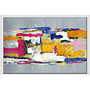 cheap Abstract Paintings-Oil Painting Hand Painted - Abstract Abstract Canvas