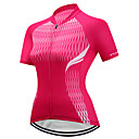 cheap Cycling Jersey & Shorts / Pants Sets-FUALRNY® Women's Short Sleeve Cycling Jersey - Red Fashion Bike Jersey, Quick Dry Reflective Strips Terylene / High Elasticity