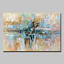 cheap Framed Arts-Oil Painting Hand Painted - Abstract Abstract Modern Canvas