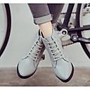 baratos Oxfords Femininos-Mulheres Sapatos Pele Napa / Pele Outono / Inverno Botas da Moda / Coturnos Botas Salto Robusto Botas Curtas / Ankle Preto / Cinzento