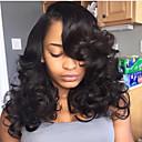 hesapli Gerçek Saç Örme Peruklar-Gerçek Saç Ön Dantel Peruk Düz Brezilya Saçı Derin Dalga Katmanlı Saç Kesimi / Bebek Saçlarıyla % 130 Yoğunluk Doğal saç çizgisi / Siyahi Kadınlar İçin / 100% bakire Kadın's Şort / Orta / Uzun Gerçek