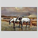 billige Abstrakte malerier-Hang malte oljemaleri Håndmalte - Dyr Klassisk Lerret