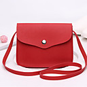 cheap Shoulder Bags-Women's Bags PU(Polyurethane) Crossbody Bag Pocket Red / Blushing Pink / Almond