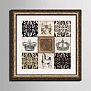 olcso Bekeretezett műalkotások-Bekeretezett vászon Bekeretezett szett Absztrakt Régies (Vintage) Szabadidő Wall Art, PVC Anyag a Frame lakberendezési frame Art Nappali