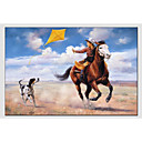 cheap Still Life Paintings-Oil Painting Hand Painted - Animals Classic Canvas