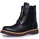 cheap Men's Boots-Men's Snow Boots Leather Fall / Winter Boots Booties / Ankle Boots Black / Brown
