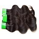 hesapli Doğal Renkli Ek Saçlar-Hintli Saçı İnsan saç örgüleri 4 Paket İnsan saç örgüleri Siyah İnsan Saç Uzantıları Kadın's