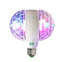 billige Bryllupsdekorasjoner-ywxlight® julestadslampe ledet rgb e27 85-265v automatisk roterende energisparende lyspære til fester