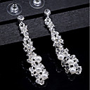cheap Earrings-Women's Crystal Drop Earrings - Pearl Basic, Elegant Gold / Silver For Wedding / Daily