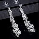 ieftine Brățări-Pentru femei Cristal Cercei Picătură - Perle De Bază, Elegant Auriu / Argintiu Pentru Nuntă / Zilnic
