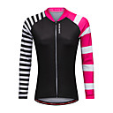 cheap Cycling Jersey & Shorts / Pants Sets-WOSAWE Women's Long Sleeve Cycling Jersey - Black Bike Jersey Polyester