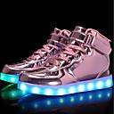 povoljno Dječje tenisice-Djevojčice Lakirana koža / Prilagođeni materijali Sneakers Mala djeca (4-7s) / Velika djeca (7 godina +) Udobne cipele / Svjetleće tenisice Hodanje Vezanje / Kopčanje na kukicu / LED Crn / Plava / TR