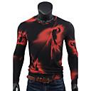 billige Herrekjeder-Bomull V-hals T-skjorte Herre Trykt mønster Sport