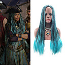 cheap Synthetic Capless Wigs-Synthetic Wig / Cosplay Wig Women's Straight Blue Synthetic Hair Ombre Hair / Middle Part / Braided Wig Blue Wig Long Capless Blue
