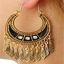 cheap Earrings-Women's Tassel Long Drop Earrings Hoop Earrings - Silver Plated Drop Ladies, Vintage, Fashion Gold / Silver For Casual Going out