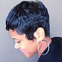 olcso Zsák táskák-Emberi hajszelet nélküli parókák Emberi haj Egyenes Rövid Géppel készített Paróka Női