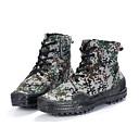 billige Herrestøvler-Herre sko Lerret Vår / Høst Komfort Støvler Svart / Militærgrønn / Grønn