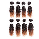 cheap Human Hair Weaves-human-hair-brazilian-ombre-hair-weaves-curly-hair-extensions-one-piece-suit-black-burgundy-black-medium-auburn-black-strawberry-blonde