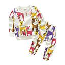 ieftine Set Îmbrăcăminte Băieți Bebeluși-Bebelus Băieți Desen animat Animal Manșon Lung Bumbac Set Îmbrăcăminte