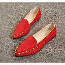 preiswerte Damen Ballerinas-Damen Schuhe Stoff / PU Frühling / Herbst Komfort Flache Schuhe Flacher Absatz Schwarz / Grau / Rot