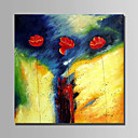 cheap Prints-Oil Painting Hand Painted - Floral / Botanical Abstract Canvas / Stretched Canvas