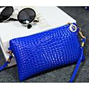 رخيصةأون حقائب الكتف-للمرأة أكياس PU حقيبة كروس سحاب أزرق / أسود / أصفر