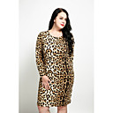 cheap Synthetic Capless Wigs-Women's Plus Size Vintage Sheath Dress - Leopard