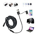 abordables Calcomanías de Uñas-3 en 1 5.5mm usb endoscopio 6 led impermeable ip67 inspección borescop serpiente cámara 5 m cable duro para pc android