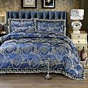 cheap Floral Duvet Covers-Duvet Cover Sets Luxury 4 Piece Faux Silk Jacquard Faux Silk 4pcs (1 Duvet Cover, 1 Flat Sheet, 2 Shams)