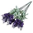 cheap Artificial Flower-2 Branch Polyester Lavender Tabletop Flower Artificial Flowers